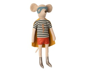 Maileg - Myszka - Super hero mouse, Maxi - Boy