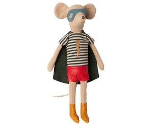 Maileg - Myszka - Super hero mouse, Medium - Boy