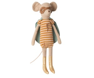 Maileg - Myszka - Super hero mouse, Medium - Girl